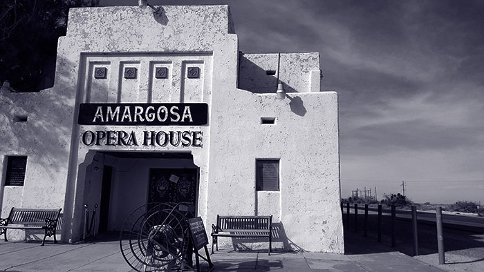The Amargosa Opera House features Marta Beckett performing nearly nightly, as she has done for over 40 years.