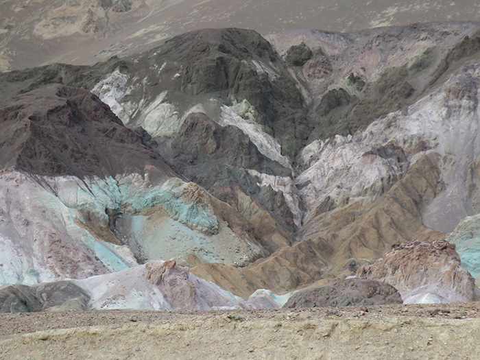 These colorful mountains showcase the variety of mineral deposits.