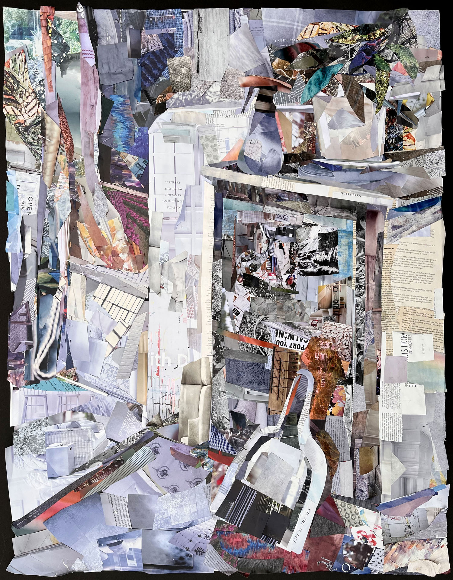 interior scene composed of magazine clippings.