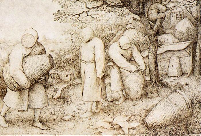 Bruegel's drawing of Beekeepers