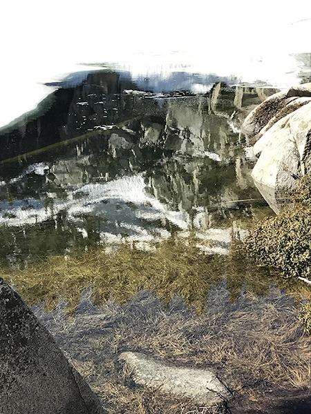 Heather Lake reflection